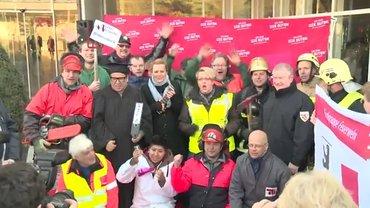 Rote-Teppich-Aktion am 27.2. in Potsdam - Betriebsgruppe FU war dabei!