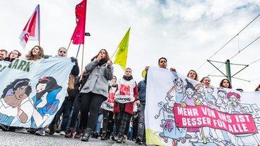Streik an KRH Kliniken Hannover am 14. November 2017