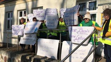Warnstreik bei der Volkssolidarität im Verbandsbereich Uckermark