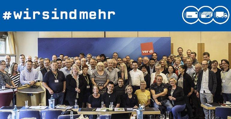 ver.di und die Betriebsräte der Deutschen Post AG gemeinsam für Demokratie und gegen Rassismus
