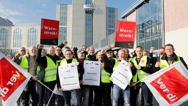 Warnstreik Pelikan Group GmbH in Falkensee