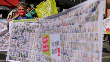 300 plus 12.500 Beschäftigte – so lässt sich auch in Zeiten von Corona protestieren